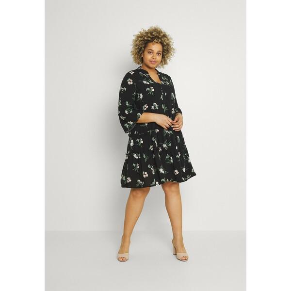 Vero Moda Curve VMSIMPLY EASY SHORT DRESS Sukienka koszulowa black VEE21C07R