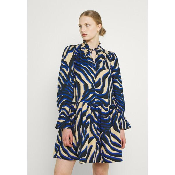 Vero Moda VMSIA V NECK TUNIC Sukienka letnia travertine/surf the web VE121C2SW