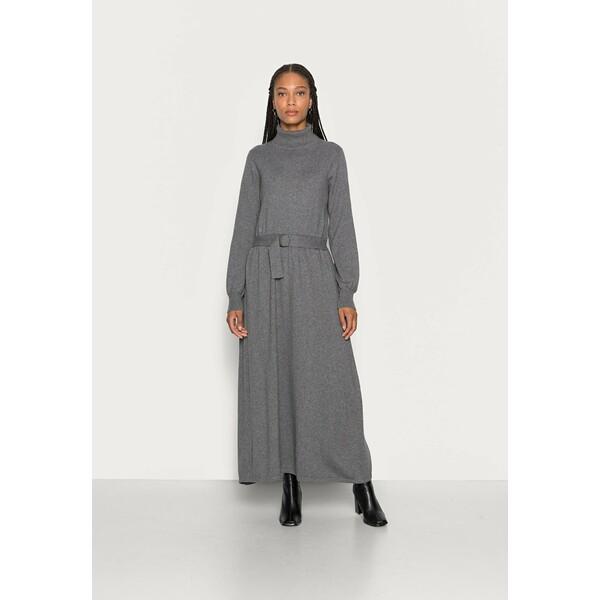 Esprit Collection CORE Sukienka dzianinowa gunmetal ES421C1GV