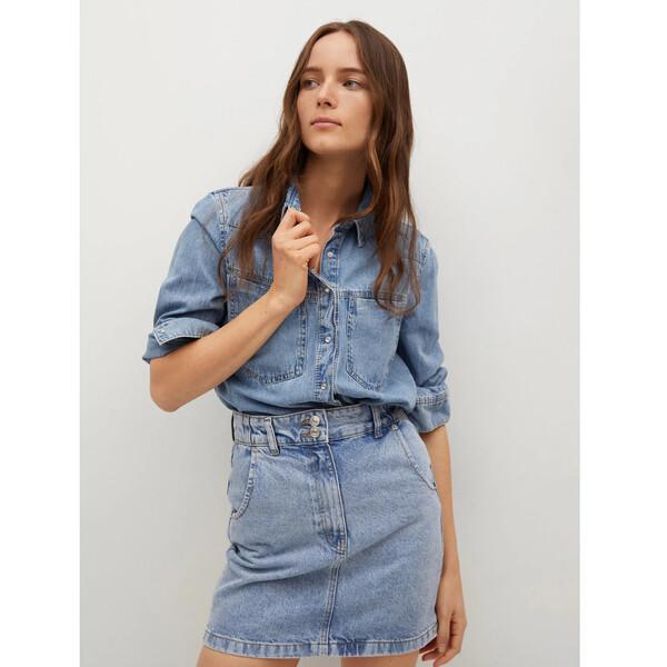 Mango Spódnica jeansowa Marion 17010802 Niebieski Regular Fit