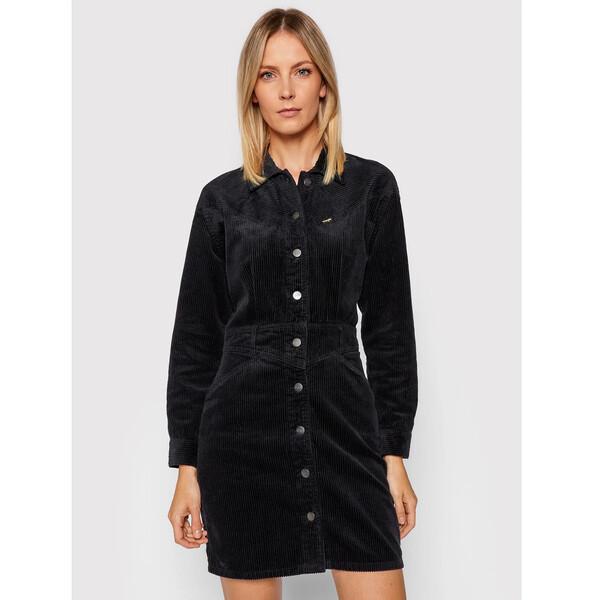 Wrangler Sukienka koszulowa Western W9N42BXCK Czarny Regular Fit