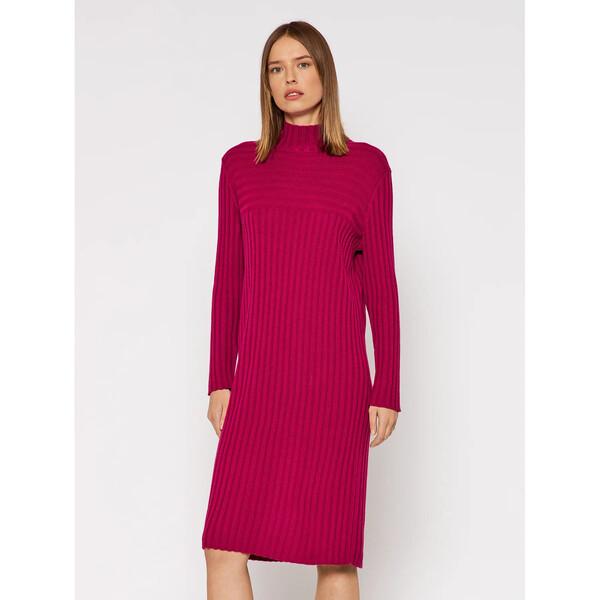 United Colors Of Benetton Sukienka dzianinowa 122NDV002 Różowy Regular Fit