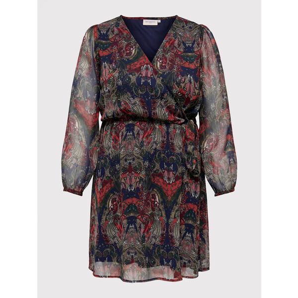 ONLY Carmakoma Sukienka letnia Cordelia 15258264 Kolorowy Regular Fit