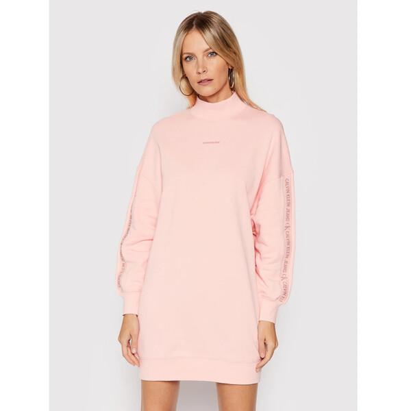 Calvin Klein Jeans Sukienka dzianinowa J20J217571 Różowy Oversize