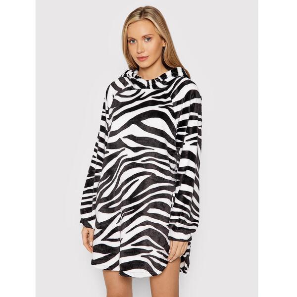 DKNY Sukienka dzianinowa YI2322499 Biały Relaxed Fit