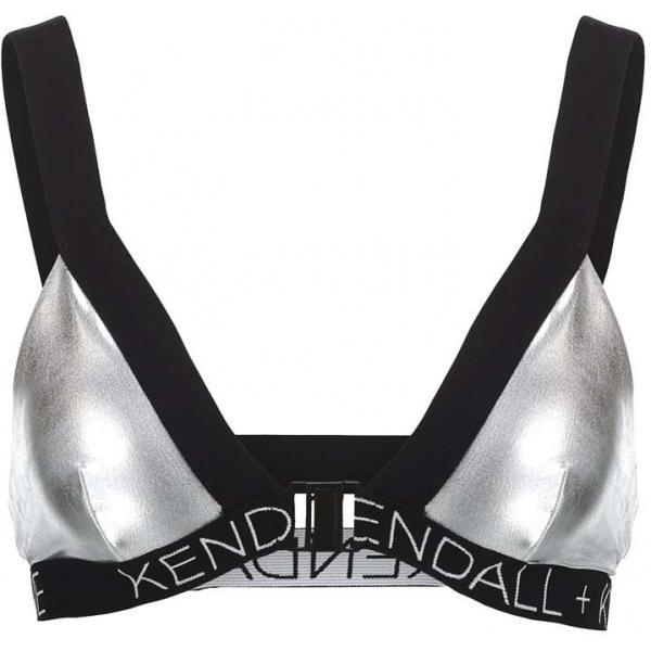 Topshop KENDALL + KYLIE Góra od bikini silver TP721M03F-D11