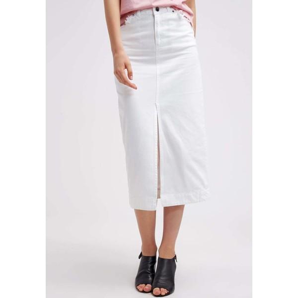 Topshop BOUTIQUE Spódnica jeansowa white T0G21B001