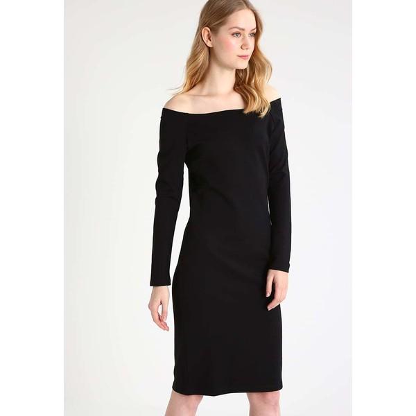 Selected Femme SFLOLO Sukienka z dżerseju black SE521C0CA