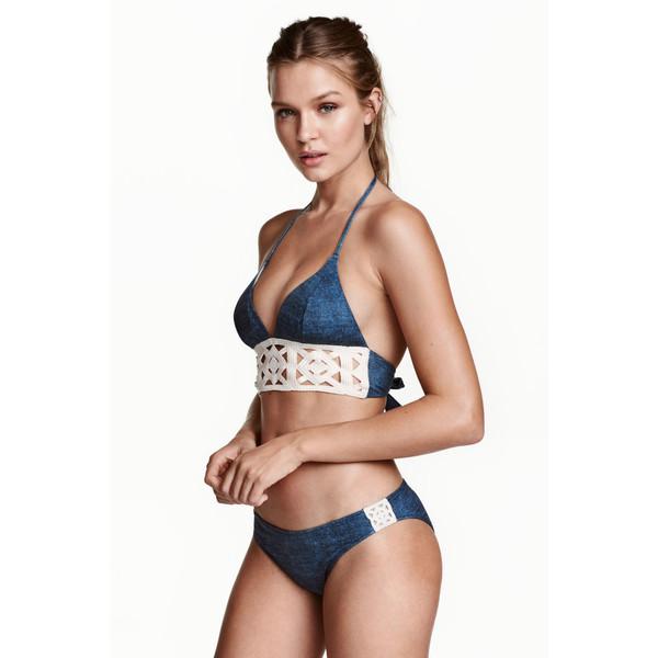 H&M Dół od kostiumu 0437458002 Niebieski denim