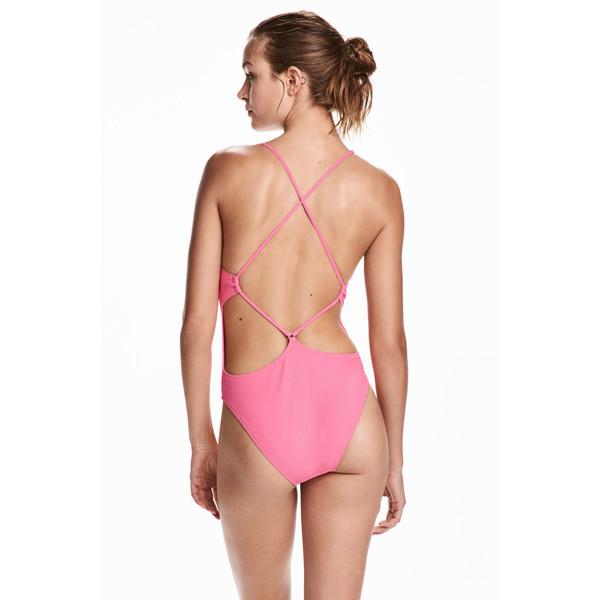 H&M Kostium kąpielowy 0471906001 Różowy