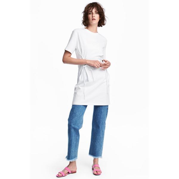 H&M Sukienka typu T-shirt 0552856001 Biały
