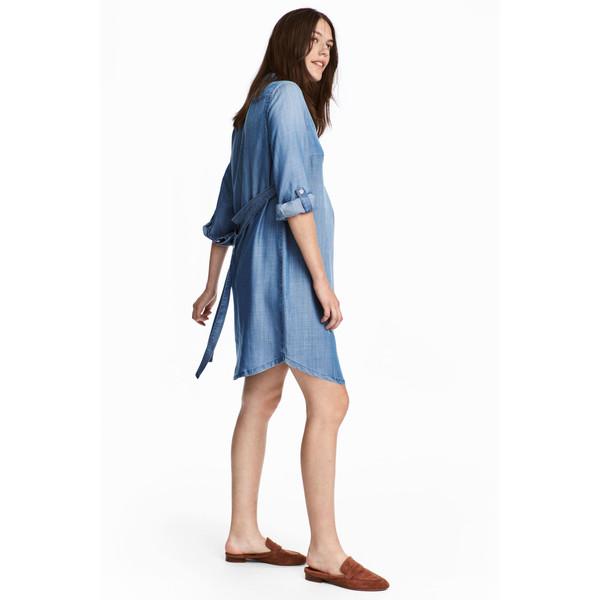 H&M MAMA Sukienka z lyocellu 0489559002 Niebieski