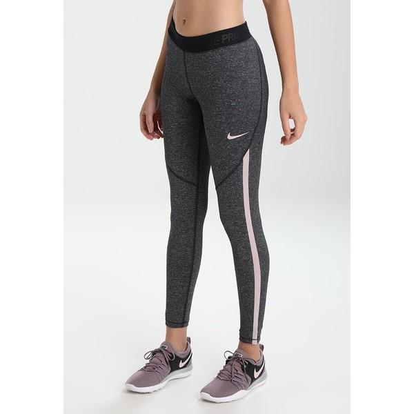 Nike Performance Legginsy black/heather/particle rose N1241E0ID