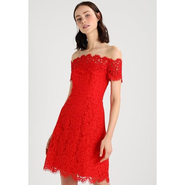 Whistles OFF SHOULDER DRESS Sukienka koszulowa red WH021C038