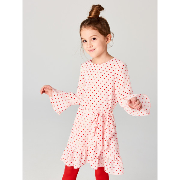 768b2ae01b Mohito Dziewczęca sukienka w serduszka z falbaną LITTLE PRINCESS SO677-39X  ...