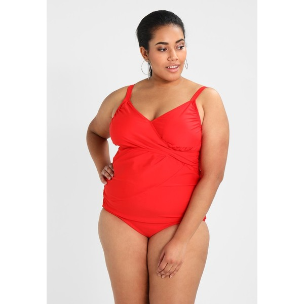 Junarose JRVIDA WRAP SWIMSUIT Kostium kąpielowy highrisk red JR481G002