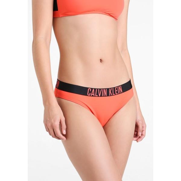 Calvin Klein Swimwear CLASSIC Dół od bikini hot coral C1181D00A