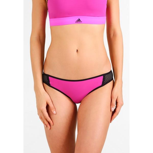 adidas Performance Dół od bikini shock pink/black AD581I000