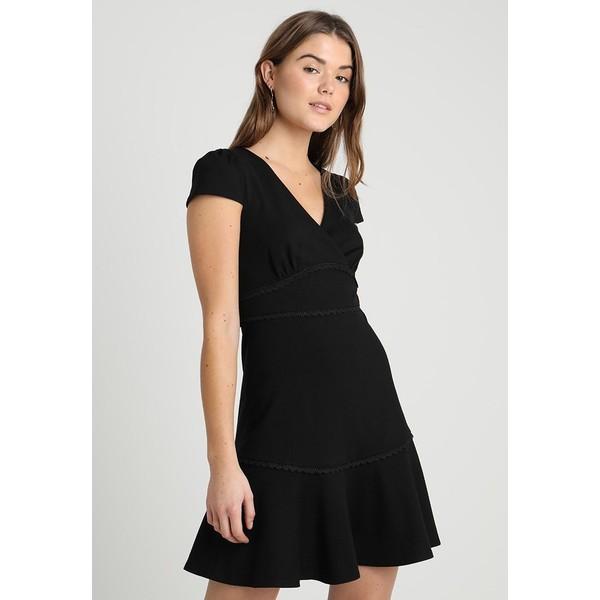c946371020 Forever New PONTE TRIM INSERT DRESS Sukienka z dżerseju black FOD21C02X ...
