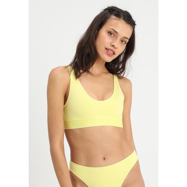 Weekday SOLEIL SWIM Góra od bikini yellow WEB81J00L