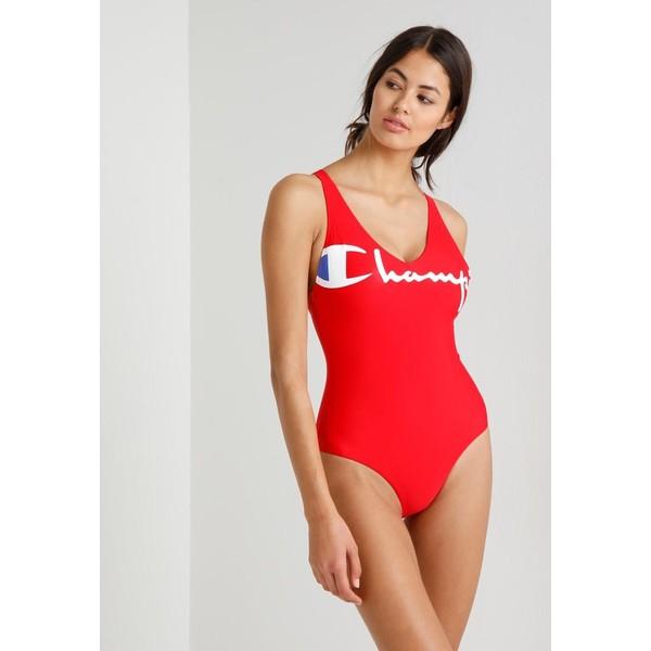 Champion Reverse Weave SWIMMING SUIT Kostium kąpielowy red C0T81G005