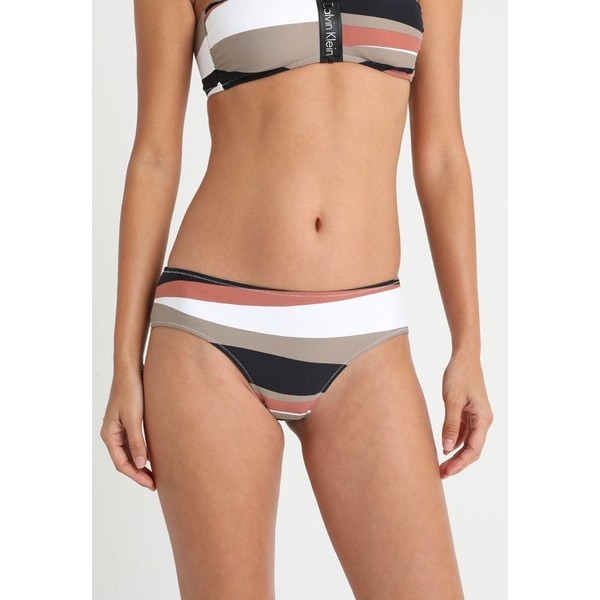 Calvin Klein Swimwear BRAZILIAN HIPSTER Dół od bikini brown C1781I00O